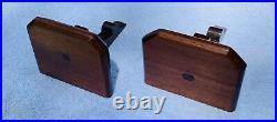 1875 Antique Victorian Walnut Wood Wall Shelf Candle Holder Display Shelf Pair