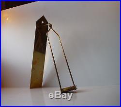 1950s Hans-Agne Jakobsson Mid Century Wall Candle holder Brass Markaryd Sweden