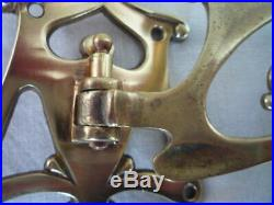 2 Antique Brass Arts & Crafts Original Candle Sconces Wall Piano Candle Holders