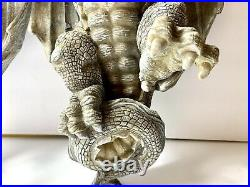 2 Design Toscano Mythical Dragon Gargoyle Wall Sculpture Candle Holder Sconce #2