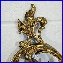 2 Rare Vtg 1979 Syroco Gold Victorian Style Wall Sconce Candle Holders 5 Arm 35