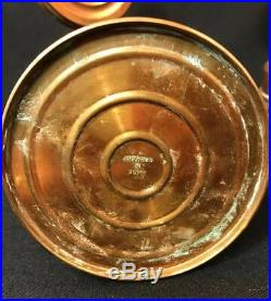 2 Vintage Copper Wall Sconce Oil Lamps with Reflector Germany