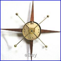 2 Vintage Wall Sconce Candle Holder Starburst Sunburst Sputnik 1950s