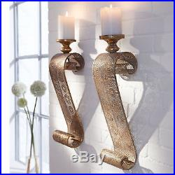 2 X Oriental Metal Wall Hanging Candle Holder Sconce Decor Ornament Medieval