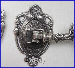 2 x Wall Mounted Candle Holder Silver Light, Piano Lamps Brass schwenkbar18cm