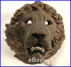 9 WINDSTONE Melody Peña HEAVY Stone Lion Head Wall Sconce Votive Pocket Holder