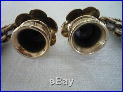 A Pair Of Brass Gothic Decor Griffin Candle Sconces Wall Candle Holders