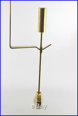 A Pierre Forsell'Pendel' candle holder for Skultuna Modernist brass Wall hung