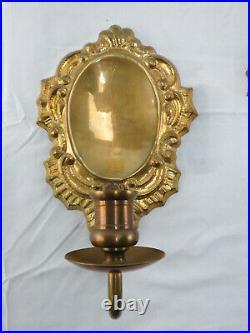 Antique 1800s Brass Wall Sconce Candle Holder Set ST STRYJEK GDANSK Poland