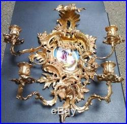 Antique Chandelier Candelabra Wall Sconce Candle Holder Sevres