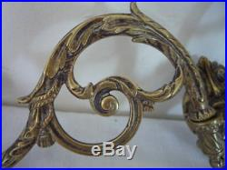 Antique French Pinet Double Candlestick Candle Holder Wall Sconce Piano Twin Arm