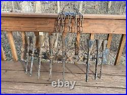 Antique Hand Forged Iron Wall Mount Sconce Candle Holder Gothic Medieval Castle