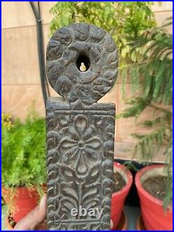 Antique Old Wooden Hand Carved Beautiful Wall Candle Stand Candle Holder