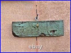 Antique Rare Iron Weighing Balance Scale Wall Hanging Candle Stand Holder