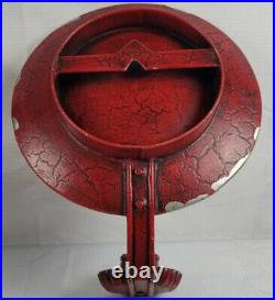 Antique Red Tin Mirror Mosaic Candle Holder/Wall Sconces (Pair of 2)