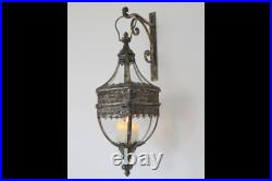Antique Style Wall Hanging French Chateau Lantern Lamp Candle Holder