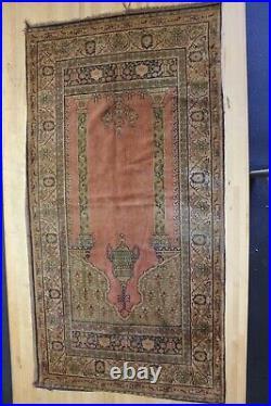 Antique Tapestry Wall art handmade Vintage Greek or Turkish Columns floral 55