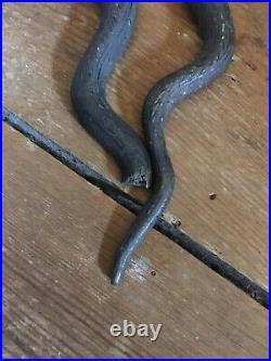Antique/ Vintage 2 Cobra Snake Wall Sconce's Candleholder Candle Stick Holders
