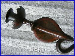 Antique Vintage Bronze Cobra Snake Wall Sconce Candleholder Candle Stick Holder