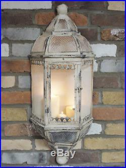 Antique Vintage Wall Lantern Sconce 0Candle Holder Pillar Candle 78cm