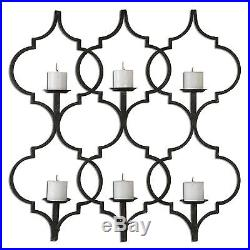 Arabesque Moroccan Open Candle Sconce Iron Wall Candle Holder