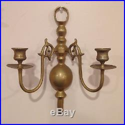 Baldwin Brass Wall Candle Double Sconces (Set of 2) Very Rare and Unique
