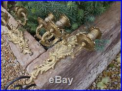 Beautiful Pair French Wall Sconce Candle Holders Candelabras Ref T14/11