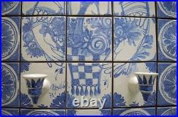 Bjørn Wiinblad (1918-2006). Huge, octagonal, unique candle holder wall plaque