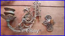 Brass Dragon candle holders wall mounted sconces Wyrven griffin