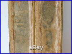 C. 19th Antique French Gilt Wooden Candle Wall Sconces Candle Holders Pair