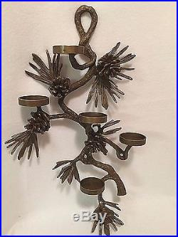 Cabin Decor Rustic E Bauer Wall Candle Holder Sconce Pinecone ...