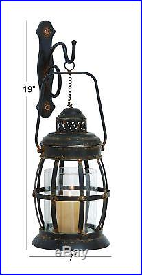 Candle Holder Iron Wall Votive Sconce Decor Stand Metal Rustic Vintage Antique