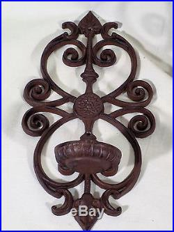 Cast Iron Wall Sconce Candle Holders Rustic Farm House