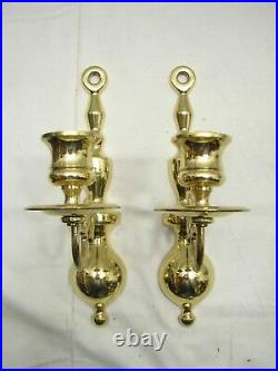Colonial Baldwin Brass Candlestick Holder Wall Sconces Candle Stick Candelabra A