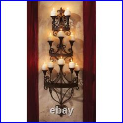 Design Toscano Carbonne Candle Chandelier Wall Sconce