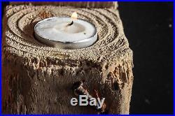 Driftwood Candle Holder, Driftwood Tea Light Holder, Driftwood Wall Sconce 3 set