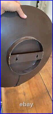 Ethan Allen Multi Faceted Mirror Wall Sconce 16 diameter Exc