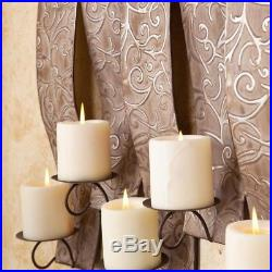 Hanging Antiqued Silver Wall Mount Votive Tea Light Candle Holder Home Decor
