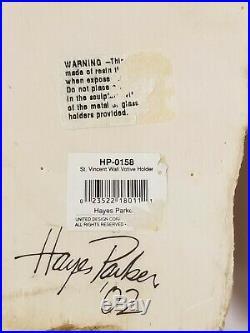 Hayes Parker Saint Vincent Wall Votive Candle Holder 2002 Religious Santos