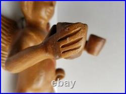 Heron Angel Cherub Pottery Terracotta Wall Sconce Candle Holder Mexico Folk Art