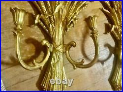 Home Interiors Syroco Ornate Gold 2 Arm Wall Sconce Candle Holder 4133 (P) Pair