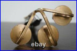 Italian Brutalist Copper & Gold Painted Wall Candle Holder Sconce Candelabra 21