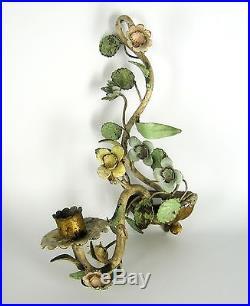 Jugendstil Wandkerzenhalter Handbemalt Art Nouveau Wall Candleholder XXX
