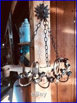 Large Metal Gothic Style Hanging Candle Holder Wall Sconce 10 Candles Unique