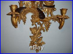 Magnificent Pair Large Chelsea House Chinese Chippendale Wall Candle Sconces