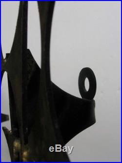 Marc Creates 1970's Candle Holder Brutalist Metal Wall Sculpture! Jere era