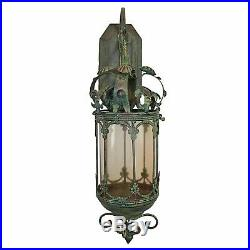 Medieval Gothic Wall Sconce Candle Holder Metal With Decorative Bracket Hanging