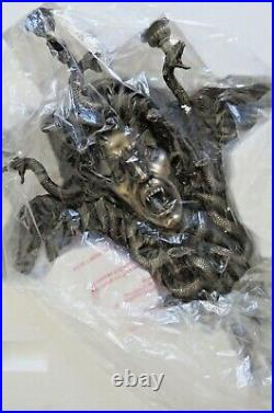 Medusa Greek Mythology / wall mounted candle holder 61.5x50 cm / 24.21x19.68 in