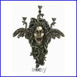 Medusa Monster Wall Candle Holder Mythology Statue Bronze Sculpture 24.13 inches