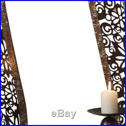 Metal Candlestick Candle Stick Sconce Wall Holder Holders Wiped Bronze Pair New